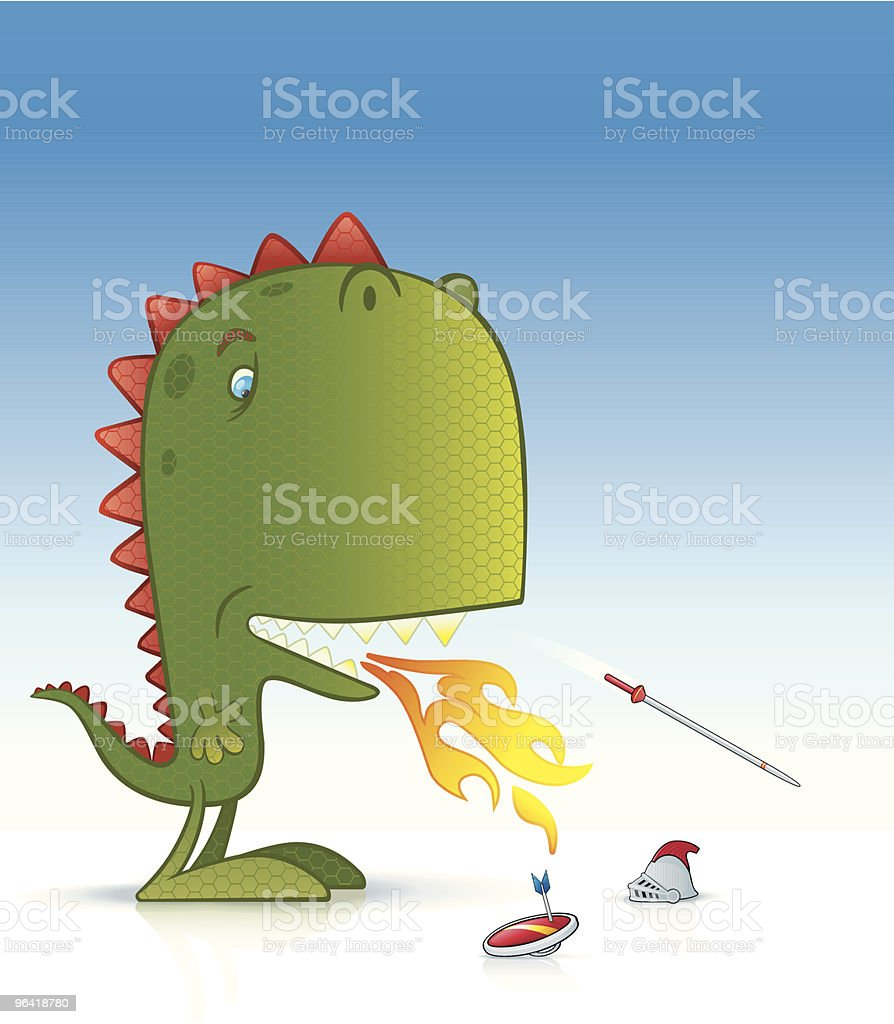 Indigestion vector art illustration