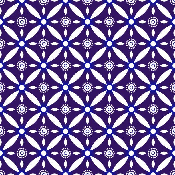 stockillustraties, clipart, cartoons en iconen met indigo batik patroon - batik