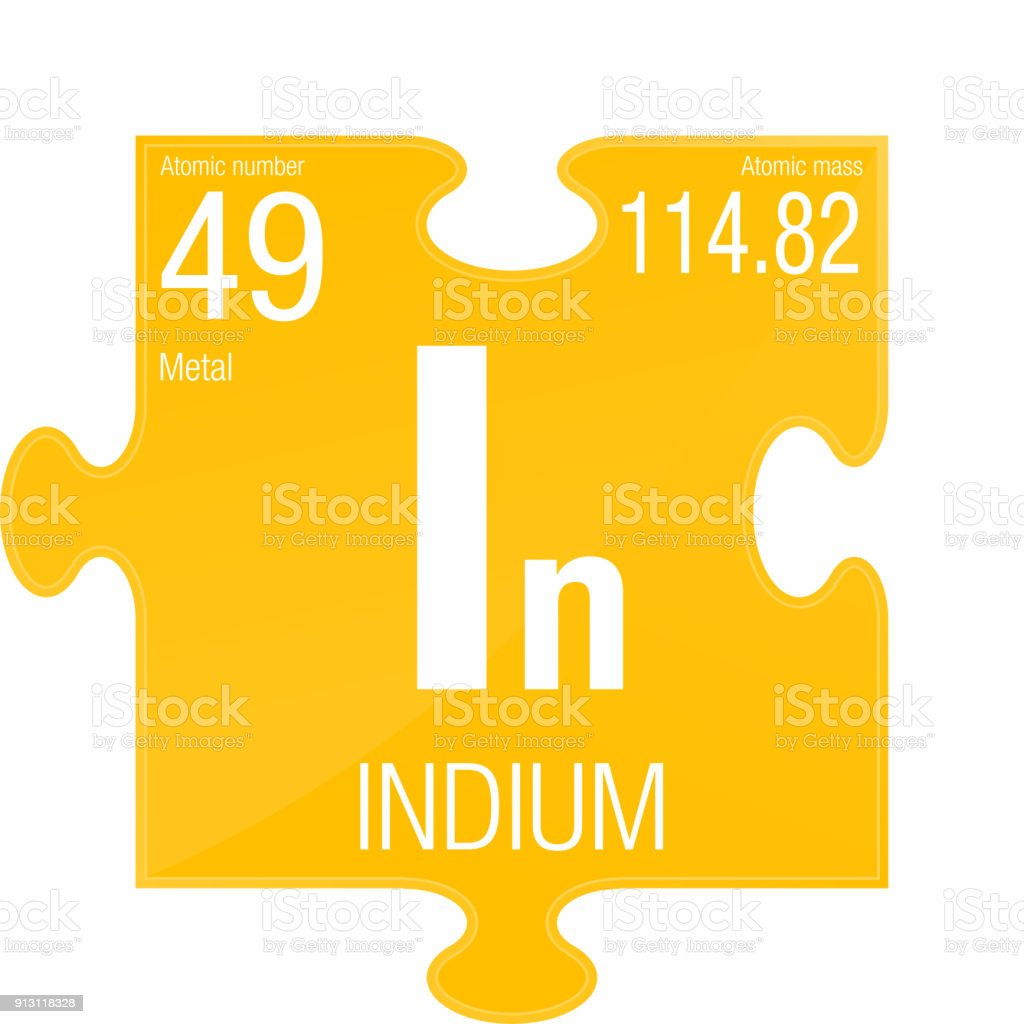 Indium Symbol Element Number 49 Of The Periodic Table Of The
