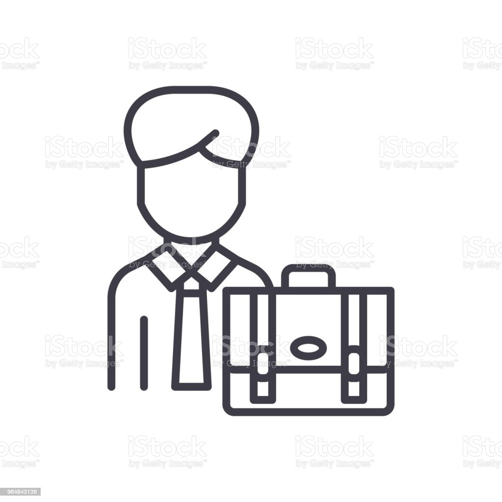Individual businessman black icon concept. Individual businessman flat  vector symbol, sign, illustration. royalty-free individual businessman black icon concept individual businessman flat vector symbol sign illustration stock vector art & more images of abstract