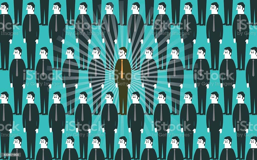 Individuality vector art illustration