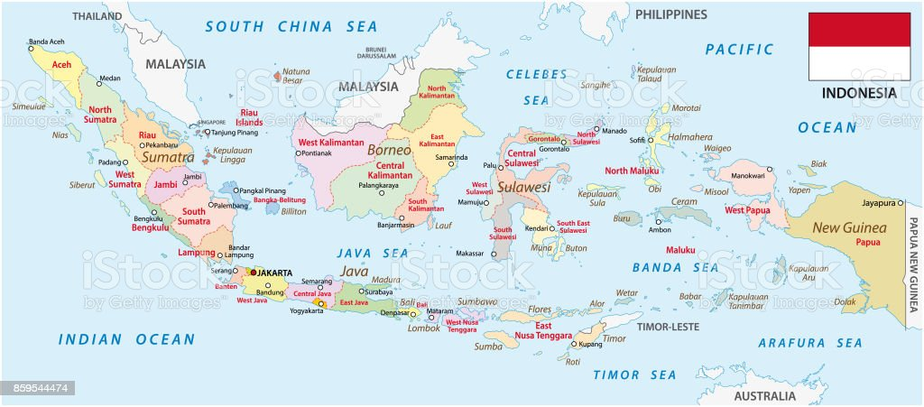 Indonesia administrative map with flag stock vector art more indonesia administrative map with flag royalty free indonesia administrative map with flag stock vector art gumiabroncs Choice Image