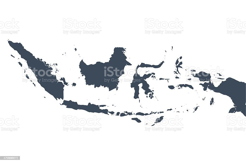 Indonesia country map vector art illustration