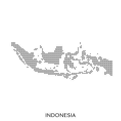 Indonesia dot halftone pattern map