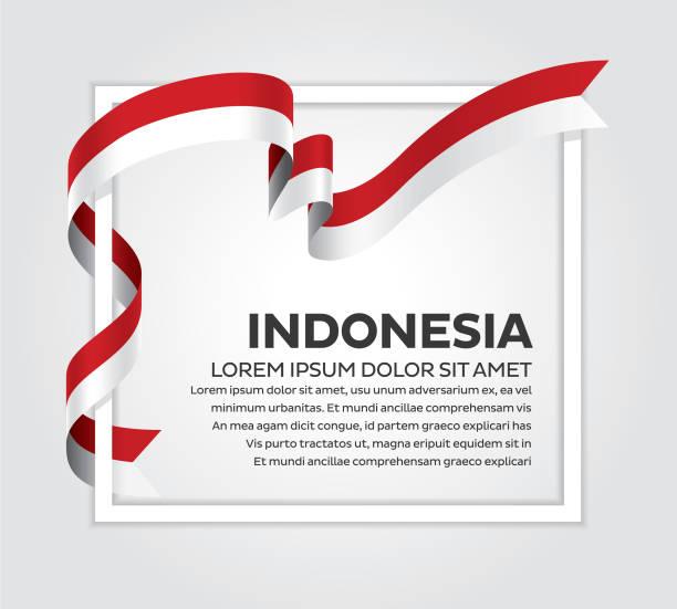 stockillustraties, clipart, cartoons en iconen met indonesië vlag achtergrond - indonesische cultuur