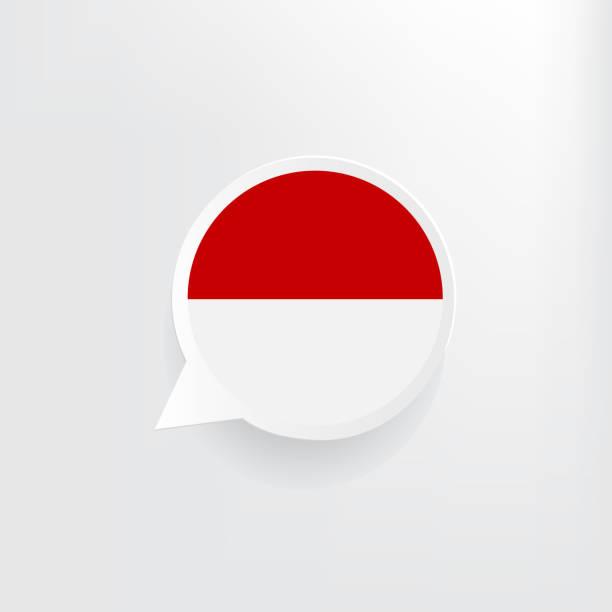 stockillustraties, clipart, cartoons en iconen met vlag voor spraakballon van indonesië - indonesische vlag