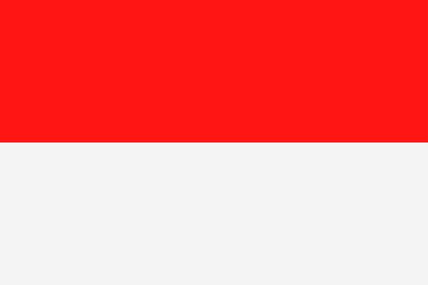 stockillustraties, clipart, cartoons en iconen met indonesië vlagpictogram vector plat - indonesische vlag