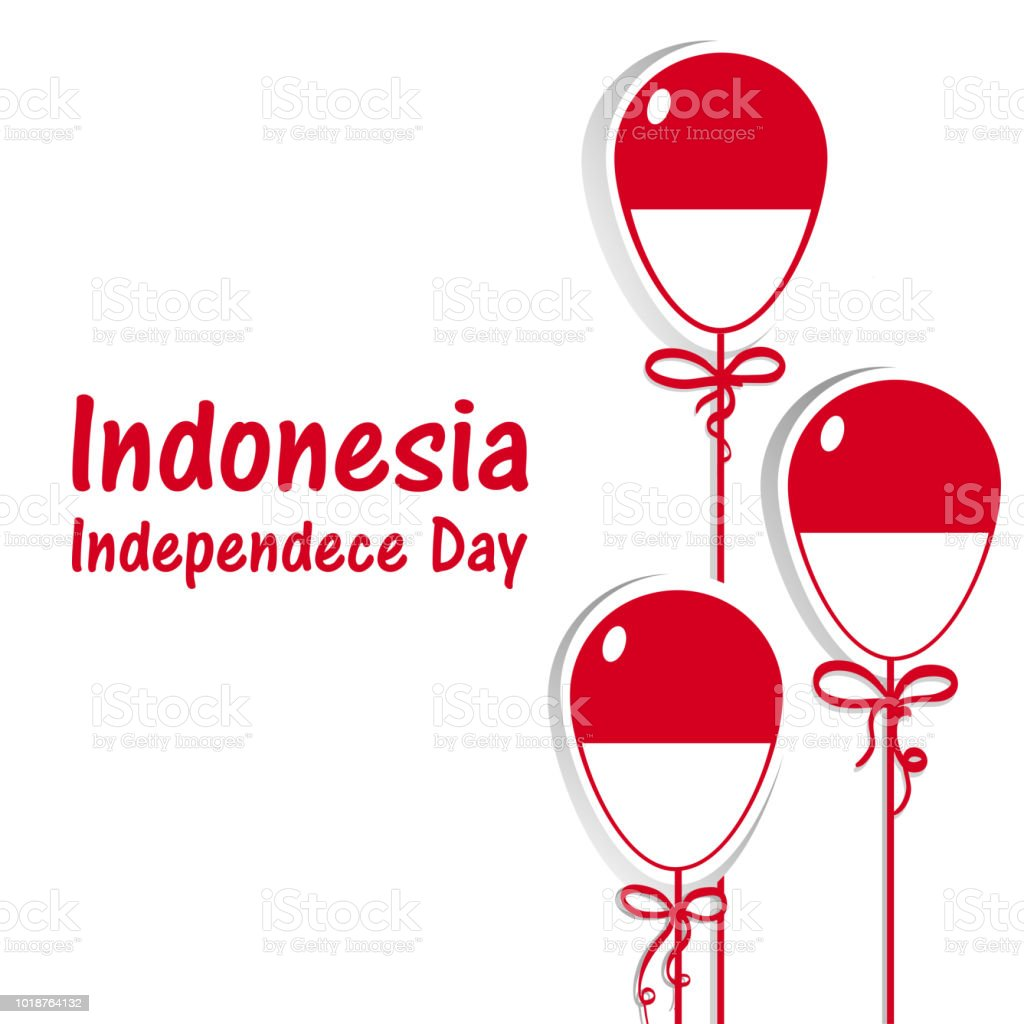Indonesia Independence day. Indonesia flag. 17 th of August 1 vector art illustration