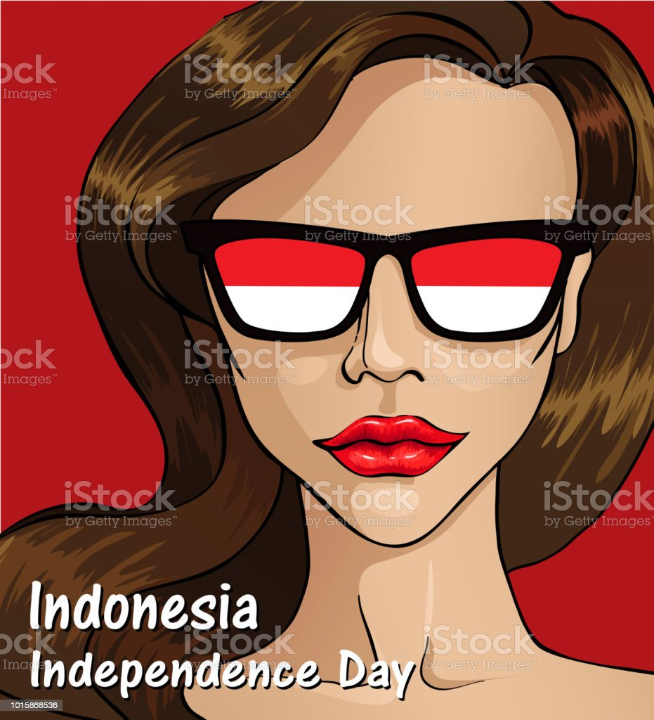Indonesia Independence day. Indonesia flag. 17 th of August vector art illustration