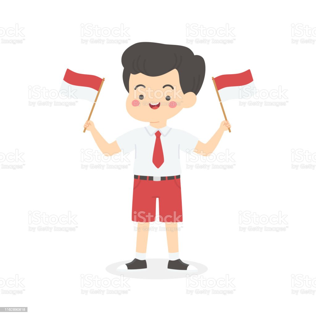 indonesia independence day school kids holding flag cartoon vector stock illustration download image now istock indonesia independence day school kids holding flag cartoon vector stock illustration download image now istock