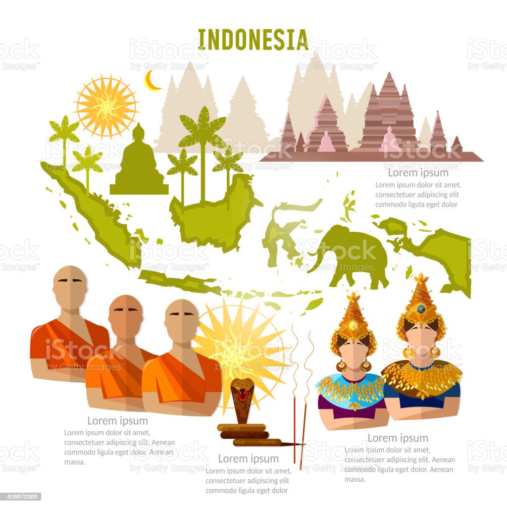 Indonesia Infographics Sights Culture Traditions Map People Indonesian Template Elements Stock Illustration Download Image Now Istock