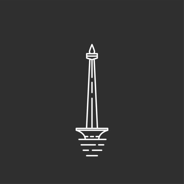 인도네시아 상징입니다. 개요 스타일 illustations - 자카르타 stock illustrations