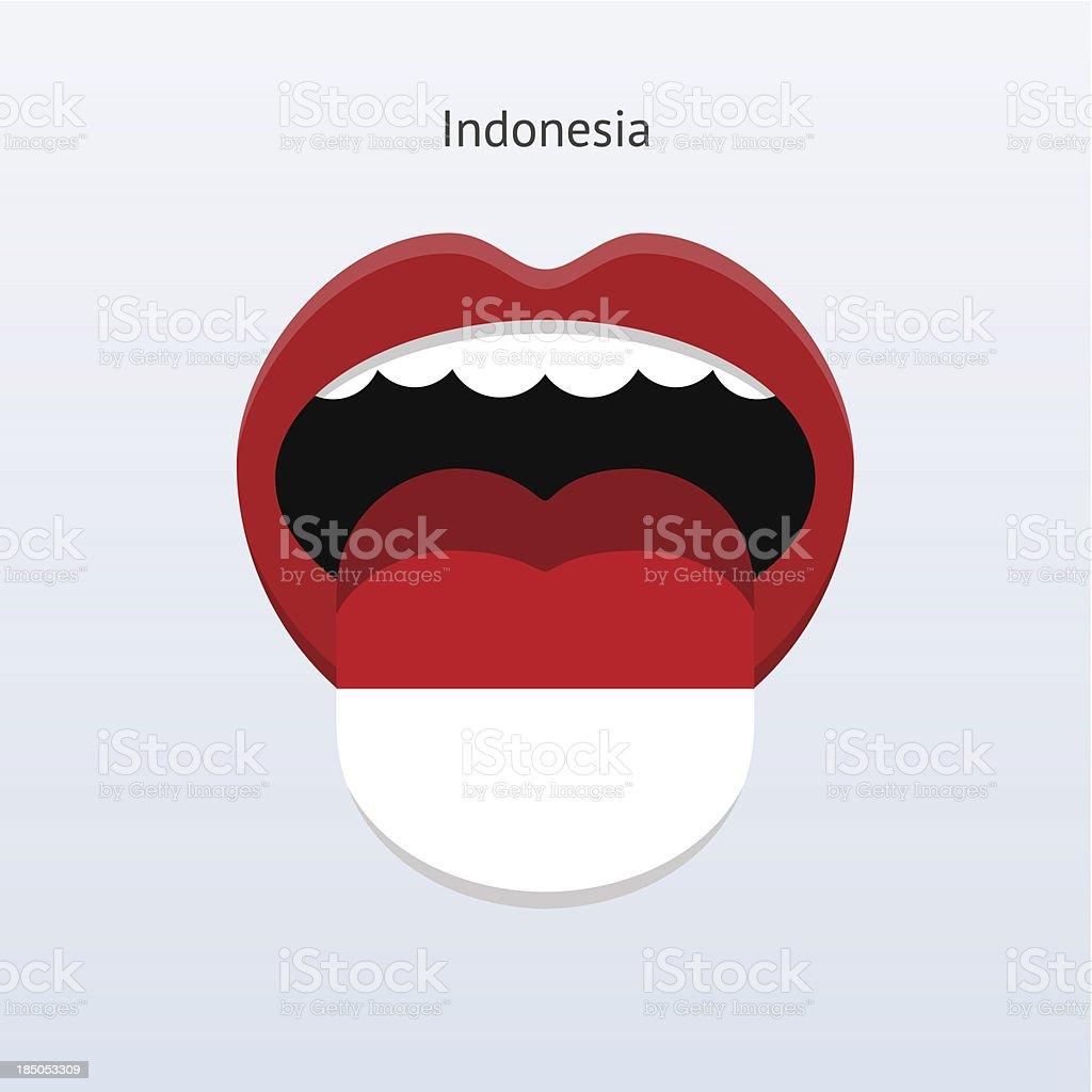 Indonesia language. Abstract human tongue. royalty-free stock vector art