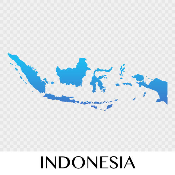 Indonesia map in Asia continent illustration design Indonesia map in Asia continent illustration design indonesia stock illustrations