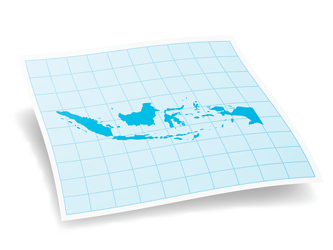 Indonesia Map isolated on white Background