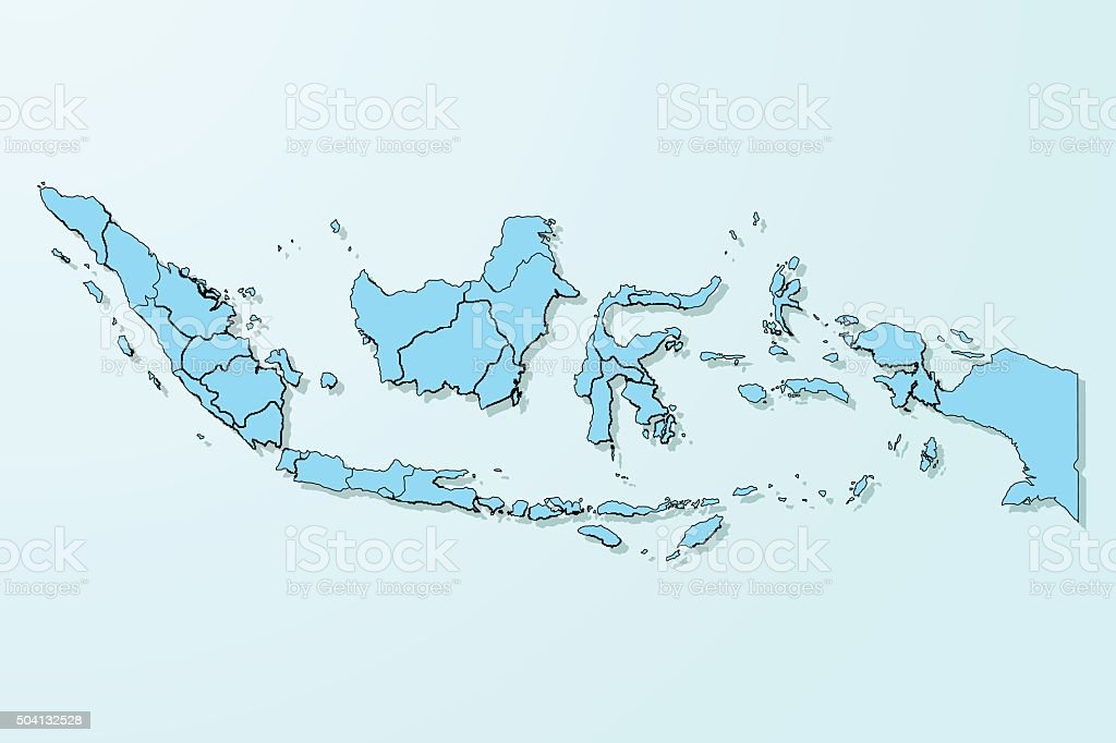 Indonesia map on blue degraded background vector stock vector art indonesia map on blue degraded background vector royalty free indonesia map on blue degraded background publicscrutiny Image collections