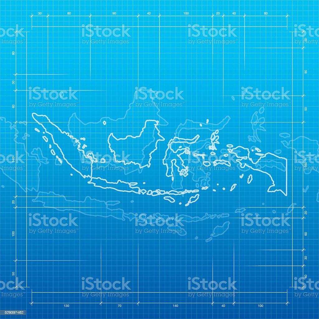 Indonesia map on blueprint background stock vector art more images indonesia map on blueprint background royalty free indonesia map on blueprint background stock vector art malvernweather Choice Image