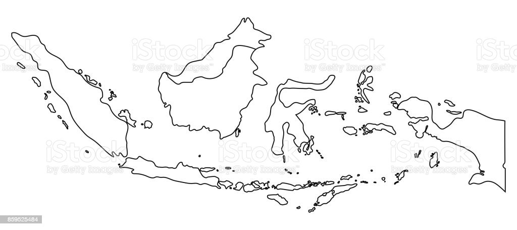 Indonesia map outline graphic freehand drawing on white background indonesia map outline graphic freehand drawing on white background vector illustration royalty free gumiabroncs Choice Image