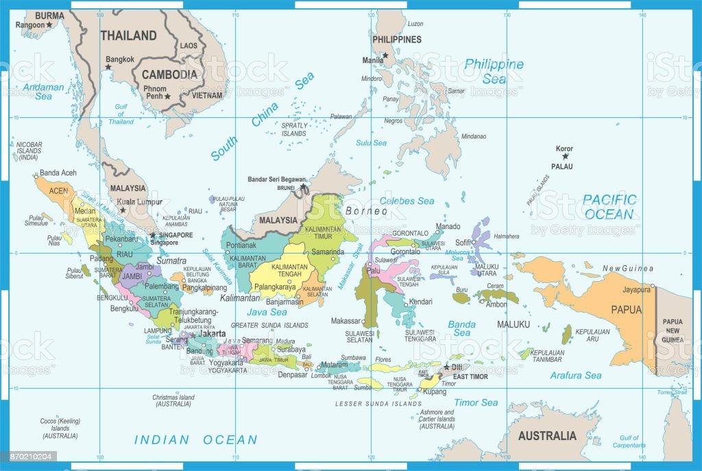 Bali Karte Asien.Indonesien Karte Vektorillustration Stock Vektor Art Und Mehr Bilder