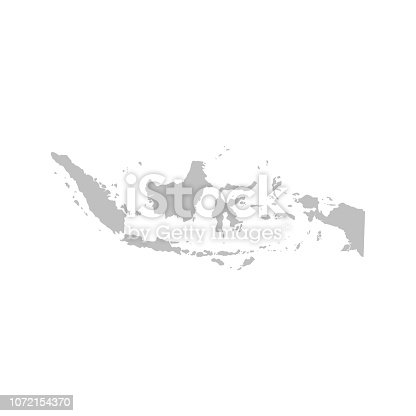 Indonesia map vector