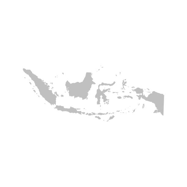 Indonesia map vector Indonesia map vector indonesia stock illustrations