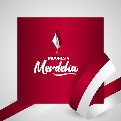 Indonesia Merdeka Flag Vector Template Design Illustration Stock Illustration Download Image Now Istock