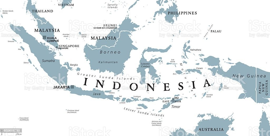 Indonesia Political Map Stock Illustration Download Image