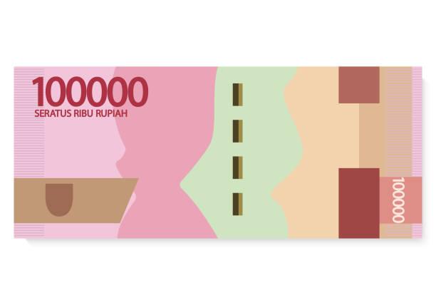 stockillustraties, clipart, cartoons en iconen met indonesië rupiah geld - indonesische cultuur