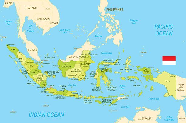 ilustrações de stock, clip art, desenhos animados e ícones de indonésia - indonésia
