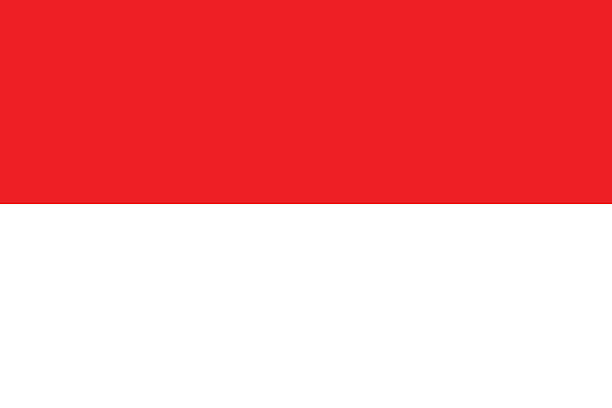 Indonesian Flag (Official Colours and Shape) Indonesian flag with official colours and shape. indonesia stock illustrations