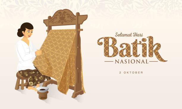 stockillustraties, clipart, cartoons en iconen met indonesische vakantie batik dag illustratie - batik