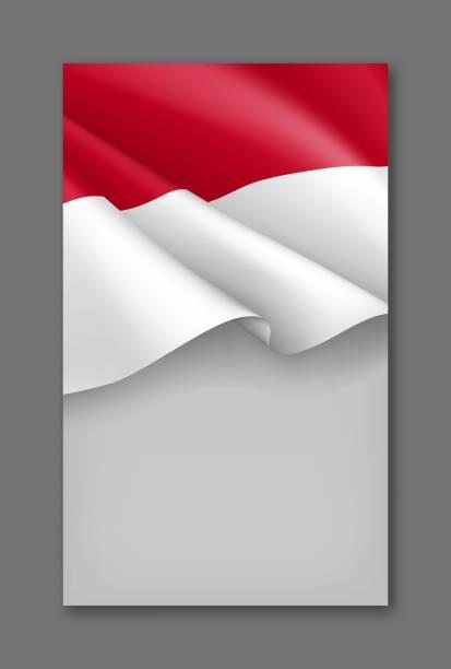 stockillustraties, clipart, cartoons en iconen met indonesische patriottische achtergrond sjabloon - indonesische vlag