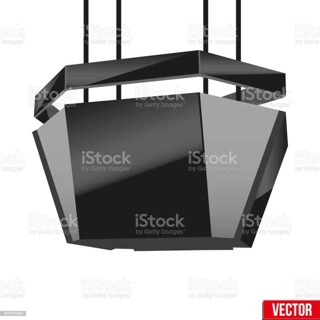 Indoor Advertising Cube LED Panel – Vektorgrafik