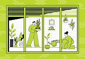 istock Indoor gardening 1224857149