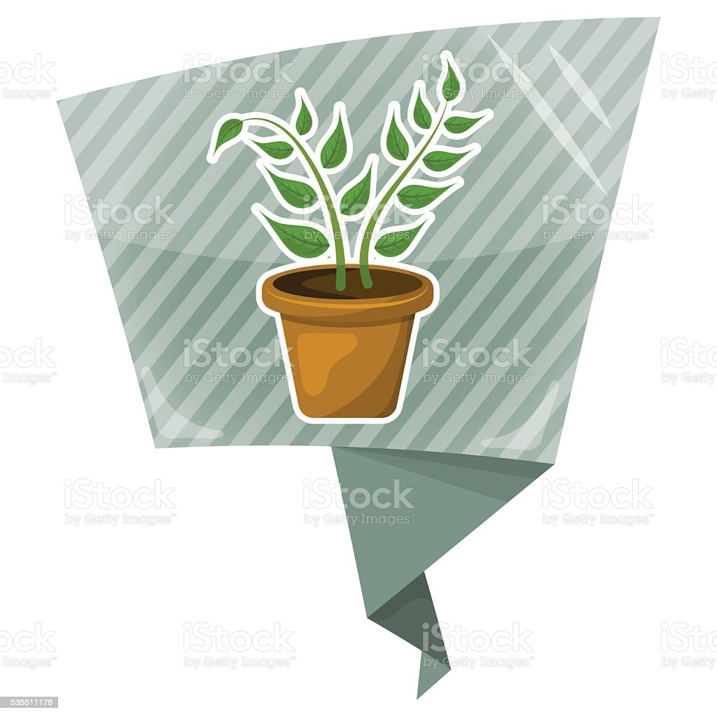 Indoor plant colorful icon vector art illustration