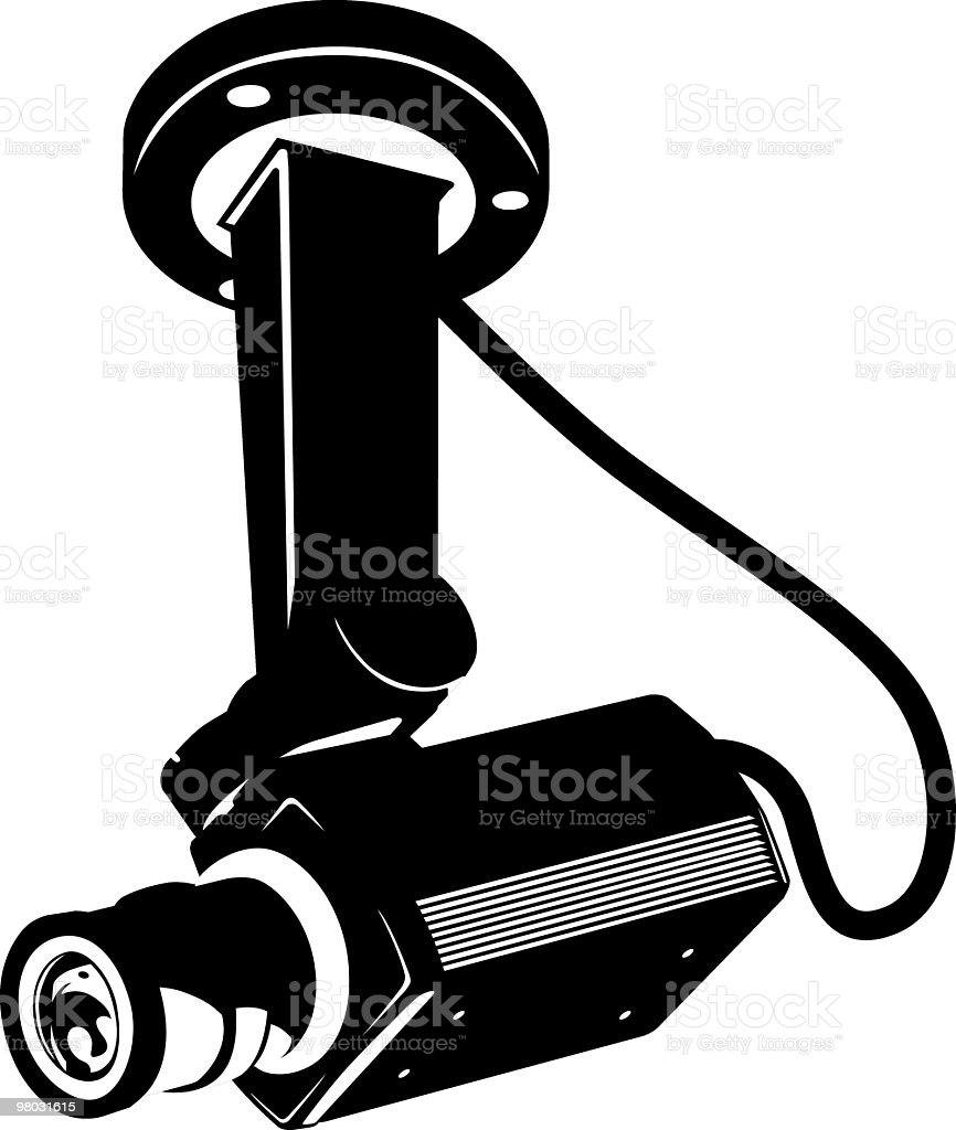indoor security camera (cctv) royalty-free indoor security camera stock vector art & more images of black color