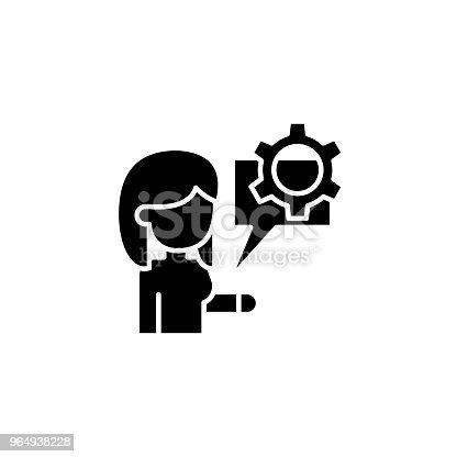 Induktion Schwarz Symbol Konzept Induktion Flache Vektor Symbol ...