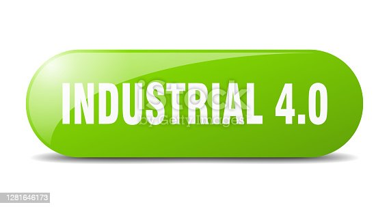 istock industrial 4.0 button. sticker. banner. rounded glass sign 1281646173