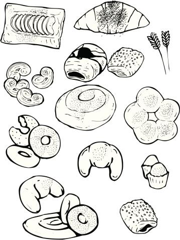 Industrial Bakery: Ensaimadas, croissant, palm tree, rolls, donuts ...