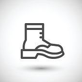 Industrial boot line icon