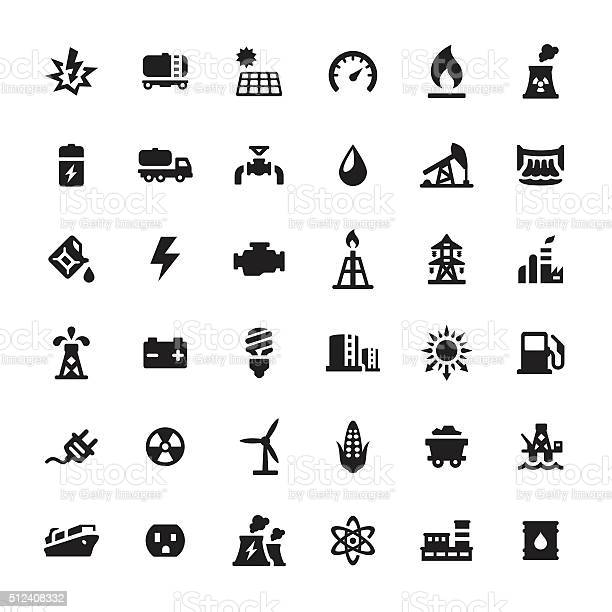 Industrial Building and Power Generation icons.