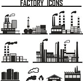 Industrial building factory. vector illustration eps 10.
