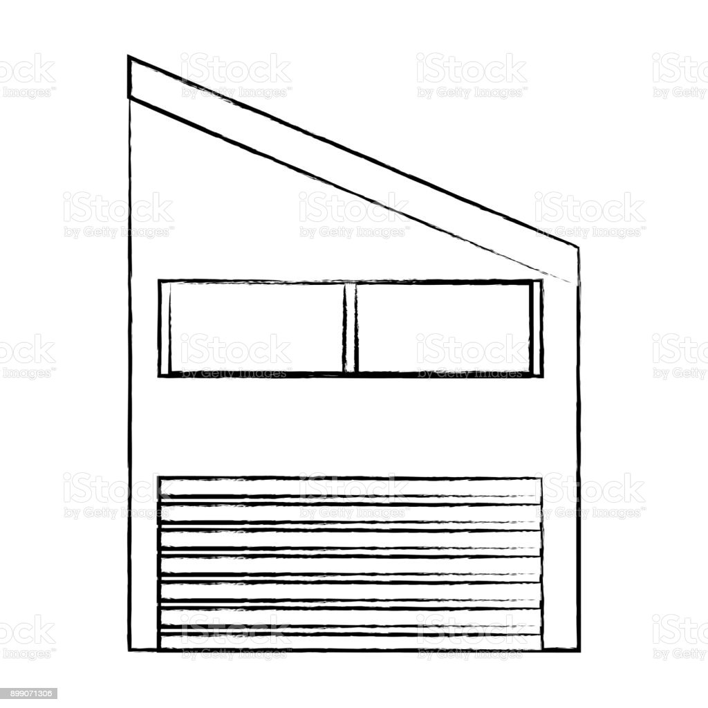 industrial building icon vector art illustration
