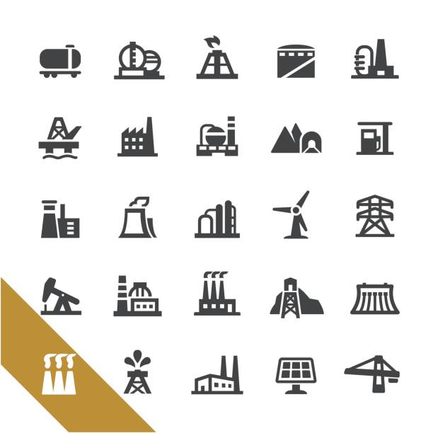 industriebauten icons - select serie - destillieren stock-grafiken, -clipart, -cartoons und -symbole