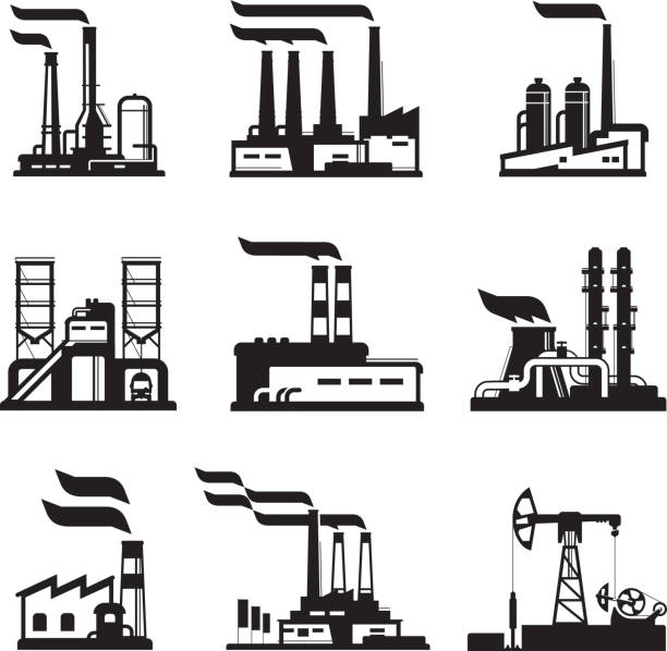 Royalty Free Power Plant Clip Art, Vector Images