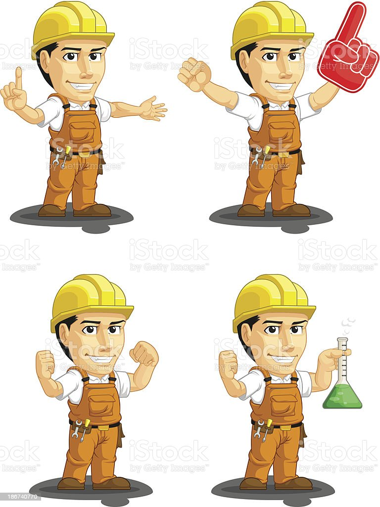 Industrial Construction Worker Customizable Mascot 13 royalty-free industrial construction worker customizable mascot 13 stock vector art & more images of adult