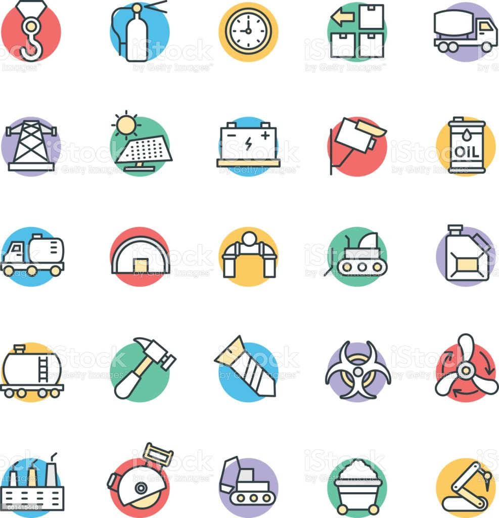 Industrial Cool Vector Icons 4 vector art illustration