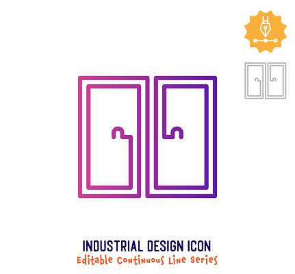 Industrial Design Continuous Line Editable Icon