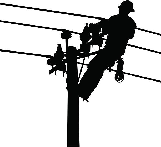 Electricistas industriales - ilustración de arte vectorial