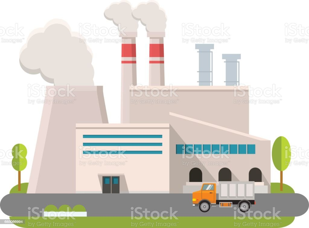 royalty free factory exterior clip art vector images rh istockphoto com clipart factory building factory clipart images